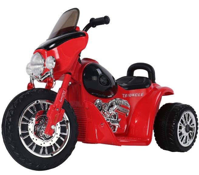 Moto électrique pour enfant HomCom - 6 V, rouge