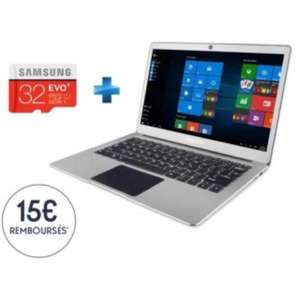 "PC Portable 13,3"" Thomson NEO X TH13 X6 - Full HD IPS, N3350, RAM 4 Go + eMMC 32 Go + Micro SDHC EVO Plus 32 Go + Adaptateur SD  (via ODR de 15€)"