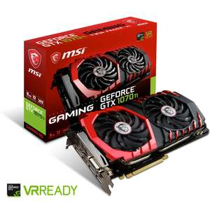 Carte graphique MSI GeForce GTX 1070Ti Gaming 8 Go