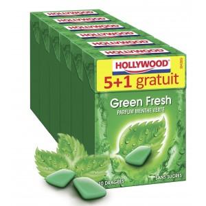 2 Lots de Chewing-gum dragées sans sucres Hollywood - 2x6 Paquets (via BDR)