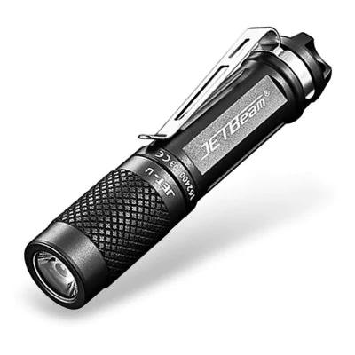 Lampe torche de poche Jetbeam Jet - Gris Titane