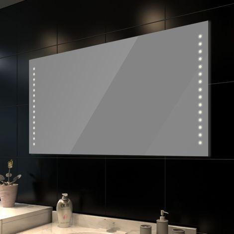 Miroir de salle bain vidaXL avec éclairage LED (100 x 60 cm)