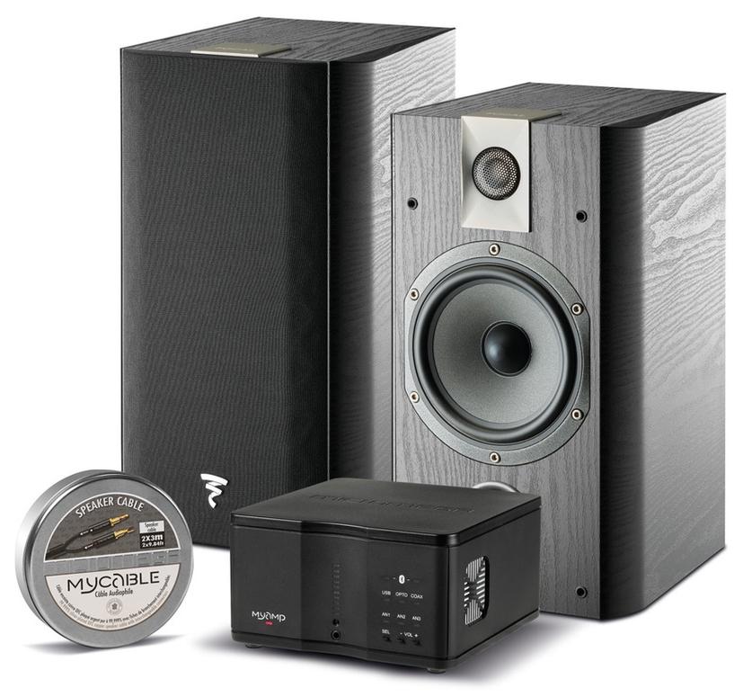 Paire d'enceintes Focal Chorus 706 + amplificateur stéréo DAC intégré MyAMP V2 + câble d'enceintes