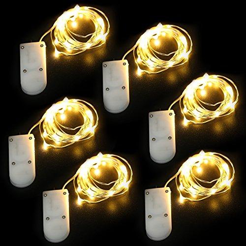 Pack de 9 guirlandes lumineuses à piles - 2 m avec 20 LEDs Blanc Chaud(vendeur tiers)