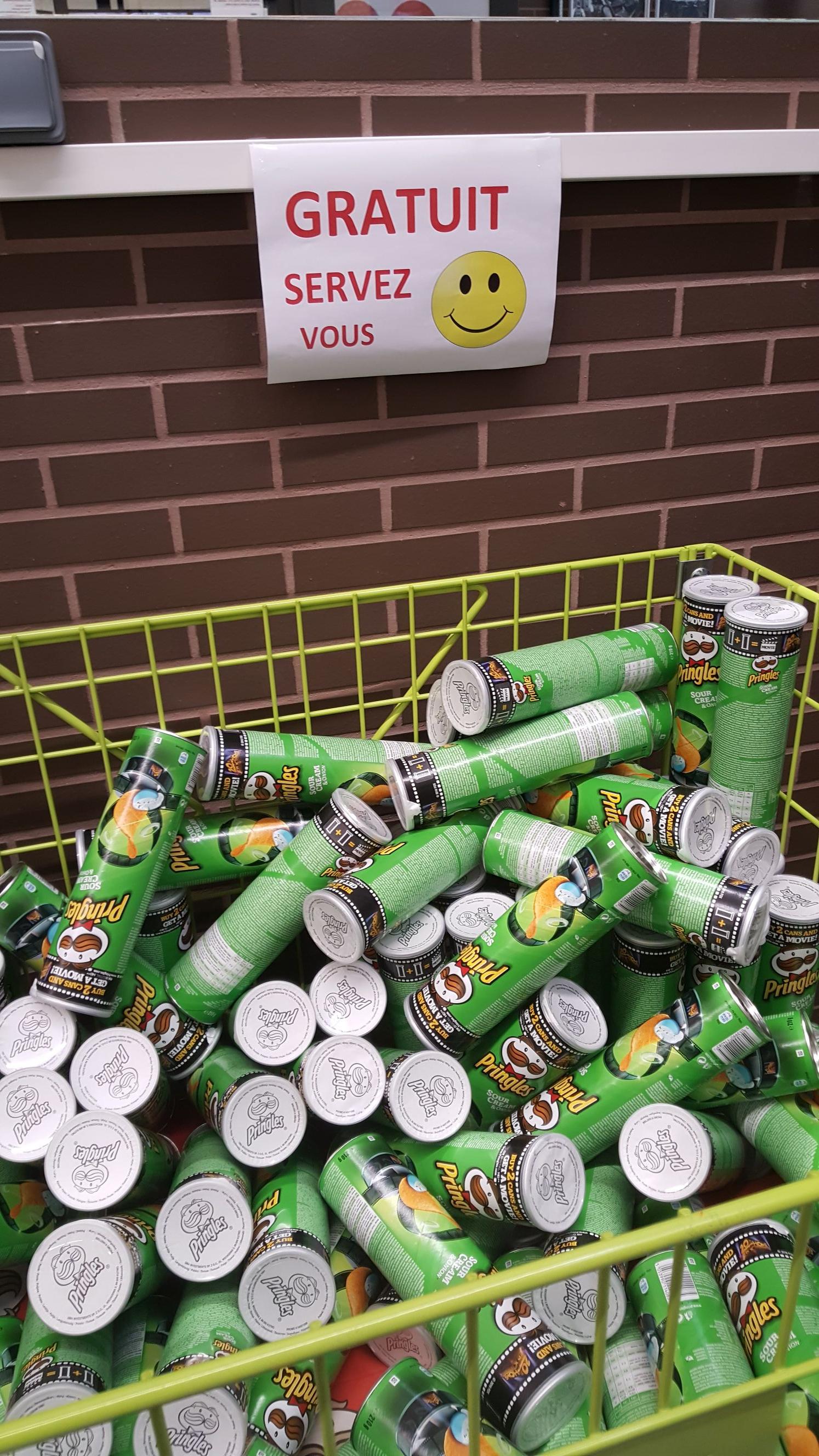 Boite de chips Pringles à l'ail - O'marché Frais Servon (77)