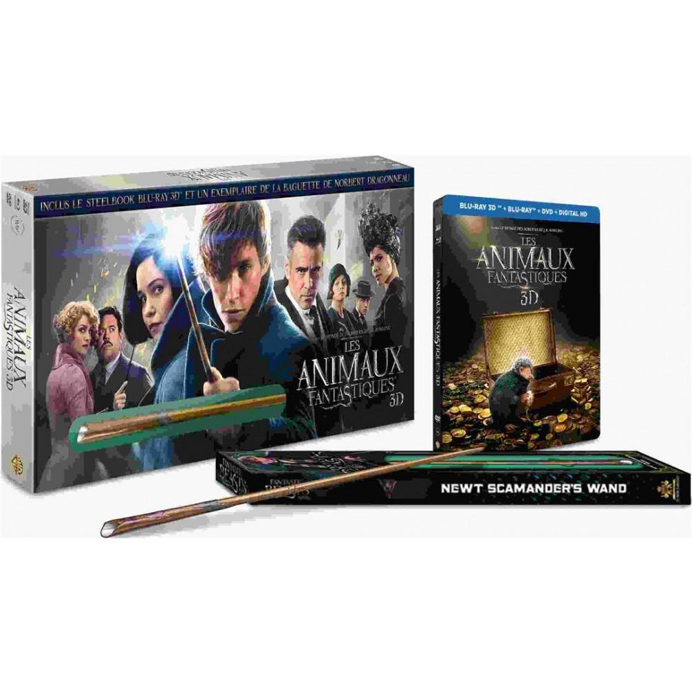 Les Animaux Fantastiques ( Blu-Ray 3D Steelbook + Baguette )