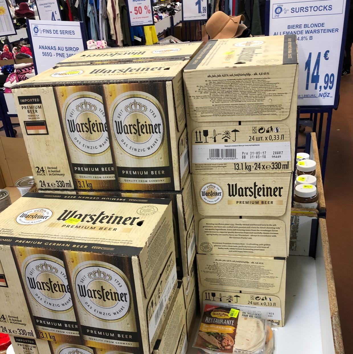 Pack de 24 Bières Warsteiner DLC courte - Noz Joigny (89)