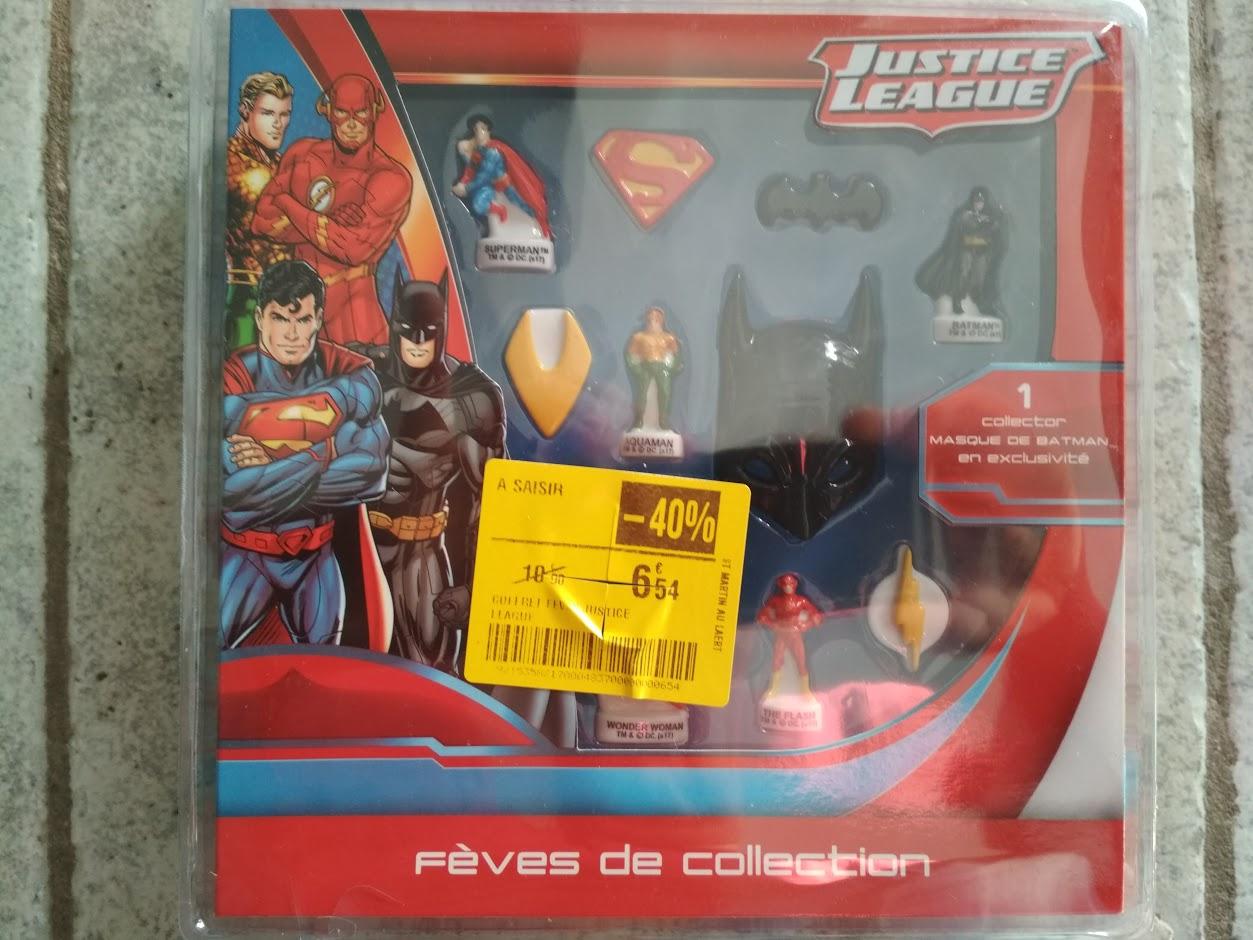 Pack de fèves de collection Justice League au Carrefour Saint-Martin-au-Laërt (62)