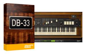 Sélection de plugins d'instruments virtuels en promotion - Ex : Air Music Technology VST DB-33 (dématérialisé)