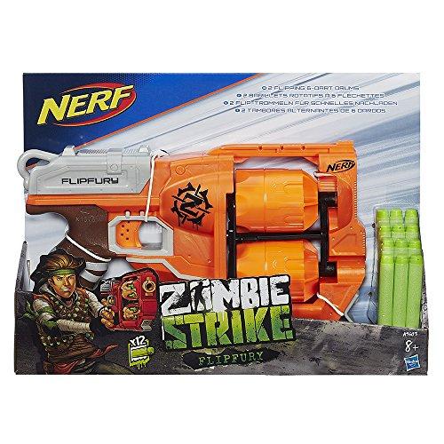 [Prime] Pistolet à fléchettes Nerf Zombie Flipfury A960EU40