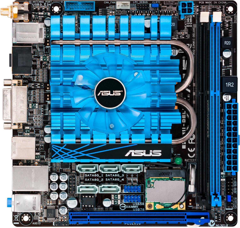 carte-mère - mini ITX Asus E2KM1I-deluxe avec processeur AMD E2-2000 (dual core 1,75 Ghz)