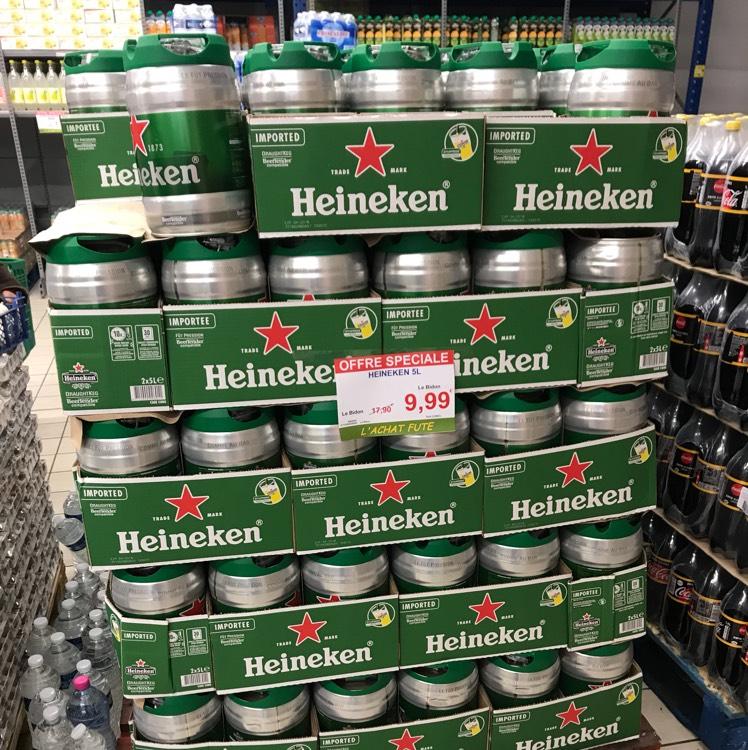 Fût de 5L de bière Heineken - O'mercato Goussainville (95)