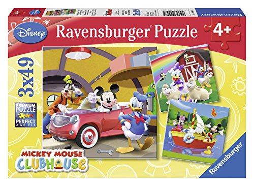 [Panier Plus] Lot de 3 puzzles Ravensburger Tout le Monde aime Mickey - 49 pièces