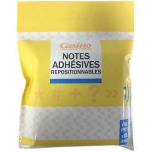 Lot de 2 bloc-notes adhésives repositionnables Casino - x200 pages