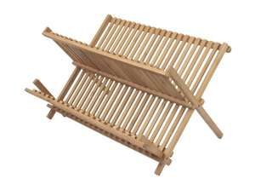 [Panier Plus] Égouttoir à vaisselles Ambiance Nature - en bambou, 32 couverts