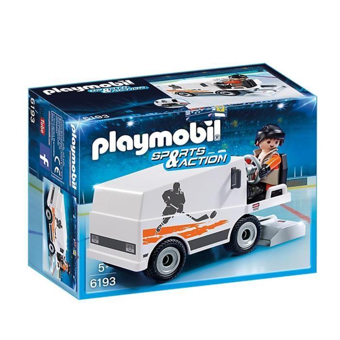 Jouet Playmobil Sports & Action - Agent d'entretien et surfaceuse (6193)
