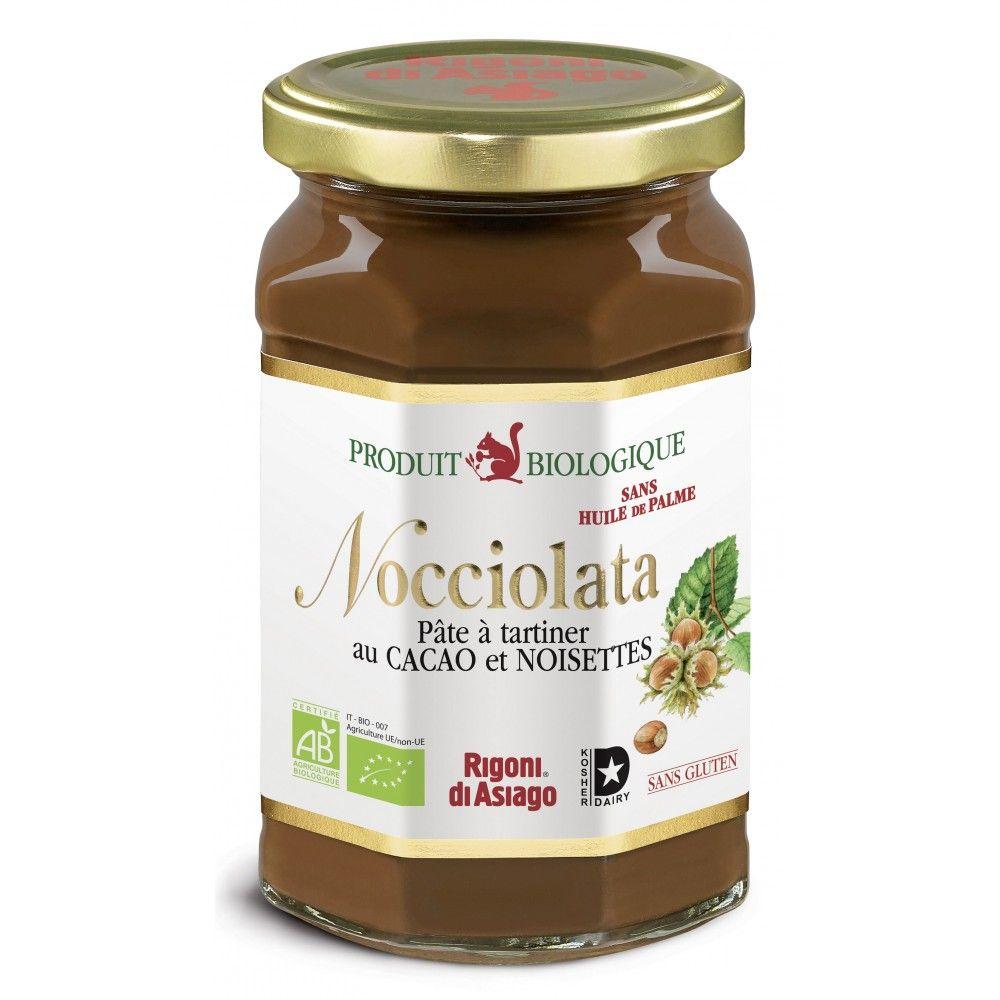Sélection de pots de pâtes à tartiner biologiques en promotion - Ex : Rigoni di Asiago Nocciolata - 350 g