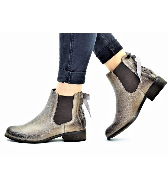 Chaussures à talons Chelsea Rubans - en simili-cuir (du 36 au 41)