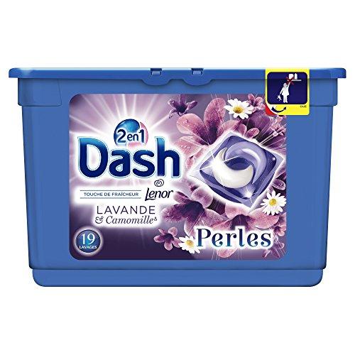 [Panier Plus] Lessive en capsules Dash 2 en 1 Perles Lavande & Camomille (38 Lavages)
