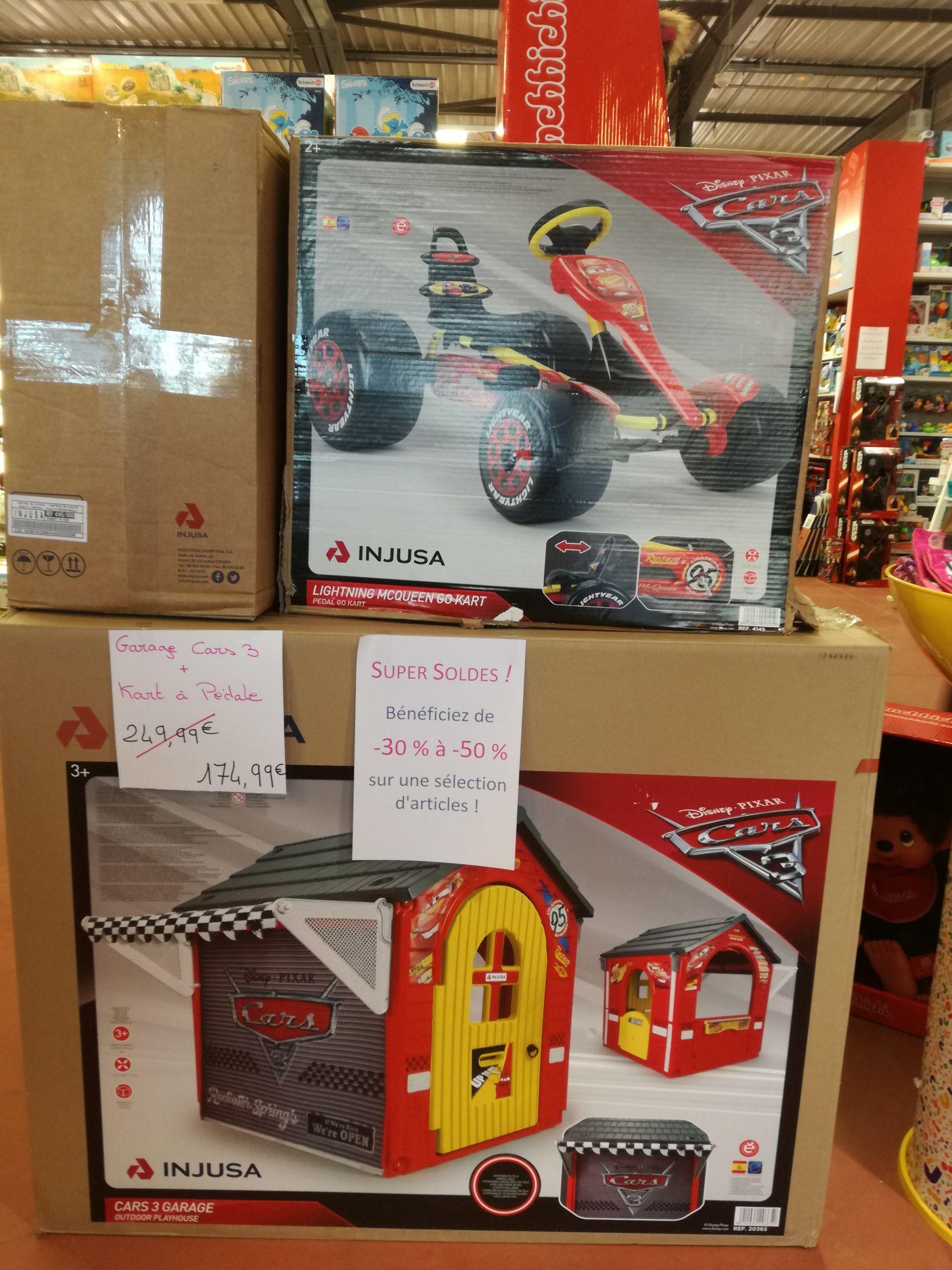 De 30 à 50% de réduction sur une sélection de jouets - Ex : Garage et kart à pédales Cars 3 - Jouet Club Colomiers (31)
