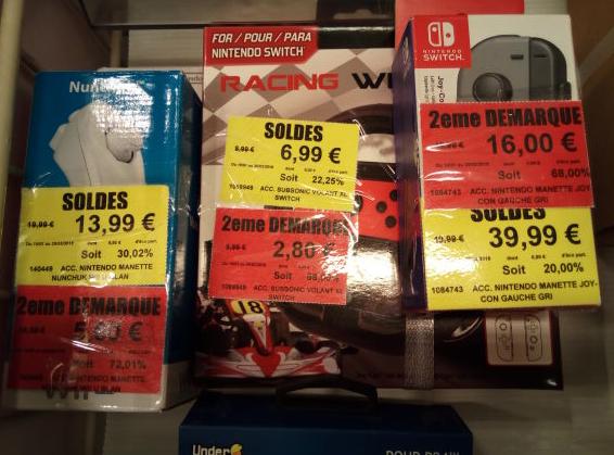 Sélections de produits en Soldes - Ex: Manette Joy-Con pour Nintendo Switch (L'unité)