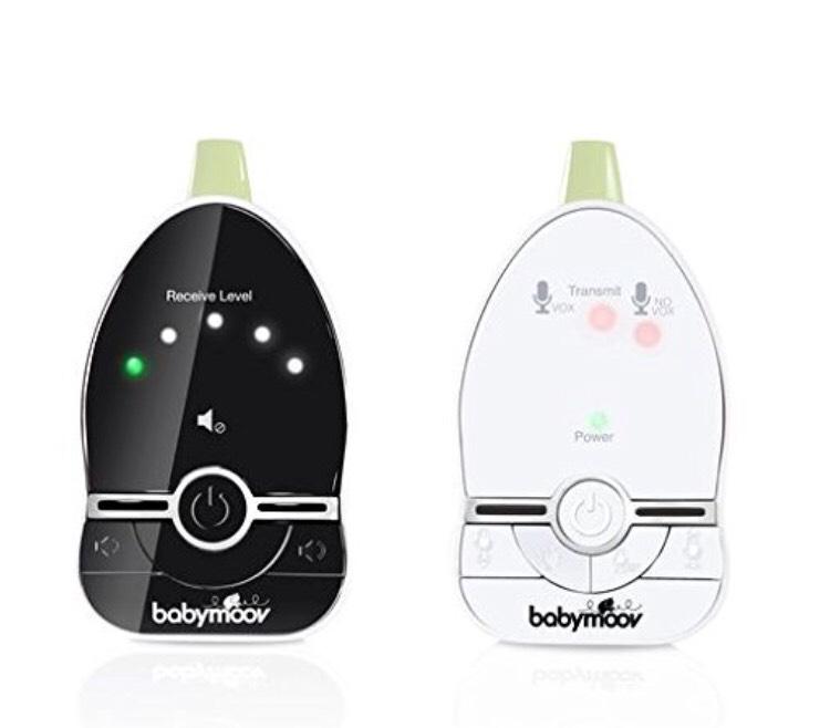 Babyphone Audio Babymoov Easy Care avec VOX et Double Alarmes, Portée 500 m