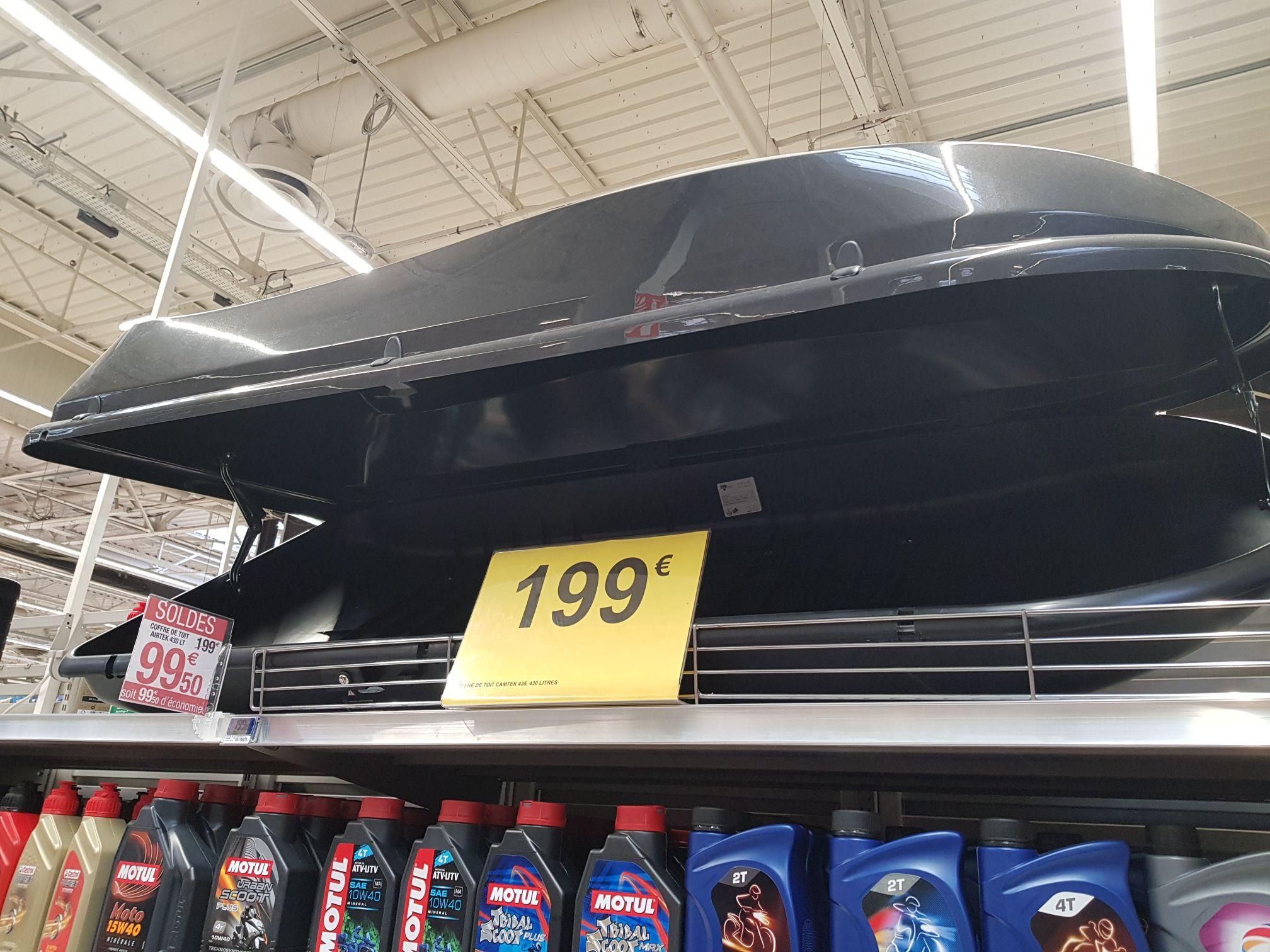 Coffre de toit 430 litres -  national