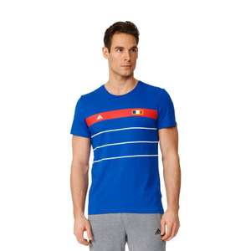 T-shirt Homme Adidas Bleu France History