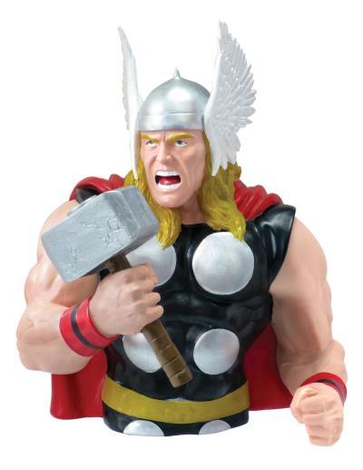 Figurine Thor Tirelire PVC - L 15,2 x L 12,7 x H 15,2 cm