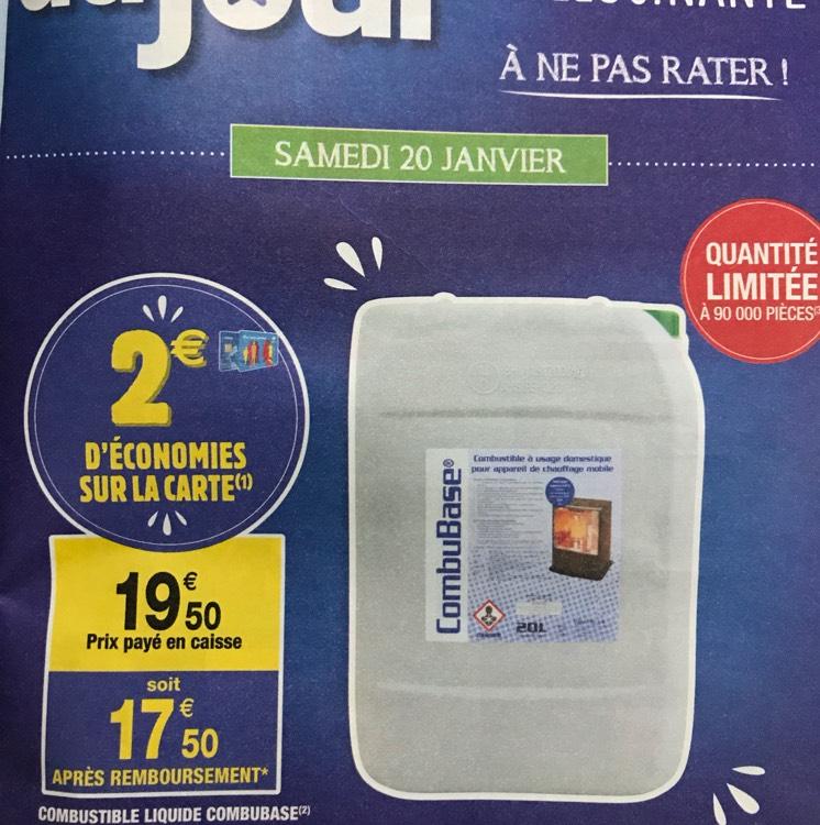 Combustible liquide pour poêle à pétrole - 20L (via 2€ sur la carte)