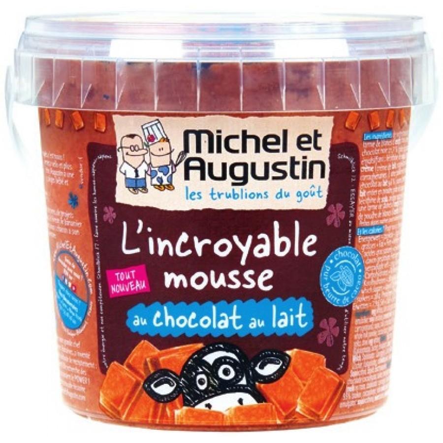 Pot de dessert Michel et Augustin L'Incroyable Mousse au Chocolat au Lait ou Noir - 500 g (via BDR + Quoty)