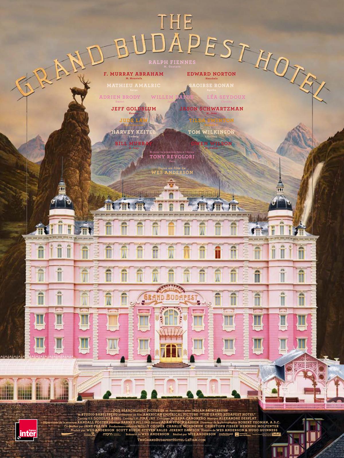 Sélection de films en location à 1€ (dématérialisés) - Ex : The Grand Budapest Hotel