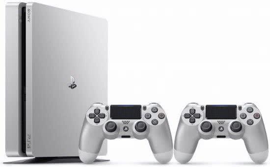 Pack console Sony PS4 Slim (500 Go, argent) + 2ème manette