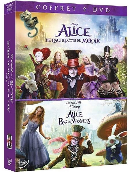 Sélection de Blu-ray & DVDs en promotion - Ex : DVD Alice au pays des merveilles + Alice de l'autre côté du miroir