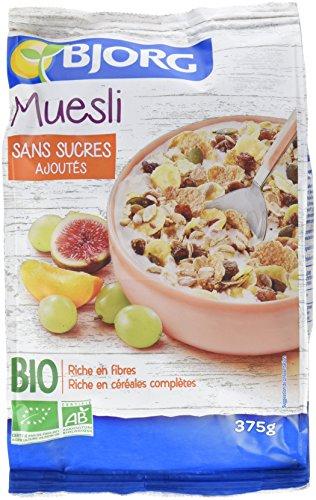 [Prime] Bjorg Muesli sans sucres Ajoutés Bio 375 g - Lot de 4