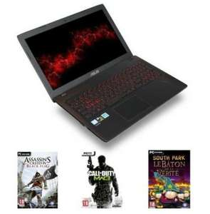 "PC Portable 15.6"" Asus FX552VE-DM380T - Full HD, i5-7300HQ, RAM 6 Go, HDD 1 To + SSD M2 128 Go, GTX 1050 Ti 2 Go + 3 JEUX"