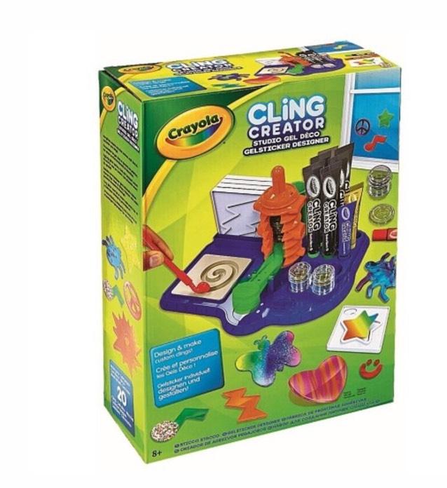 Kit créatif d'autocollants gel Crayola Cling creator
