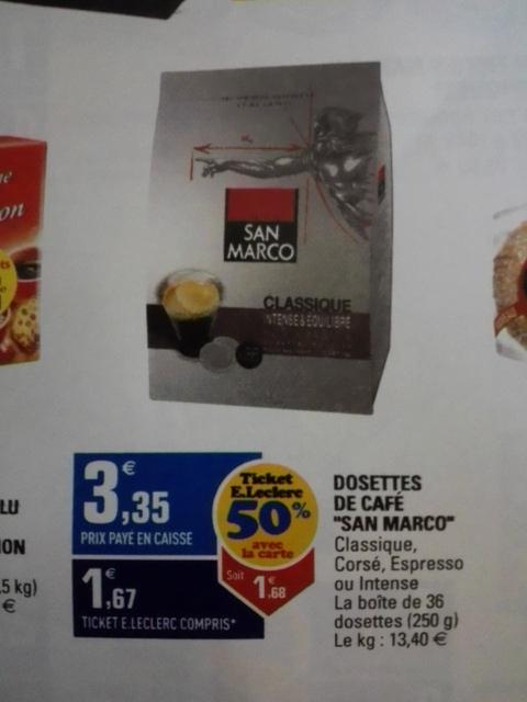 """Boîte de 36 Dosettes de café """"San Marco"""""""