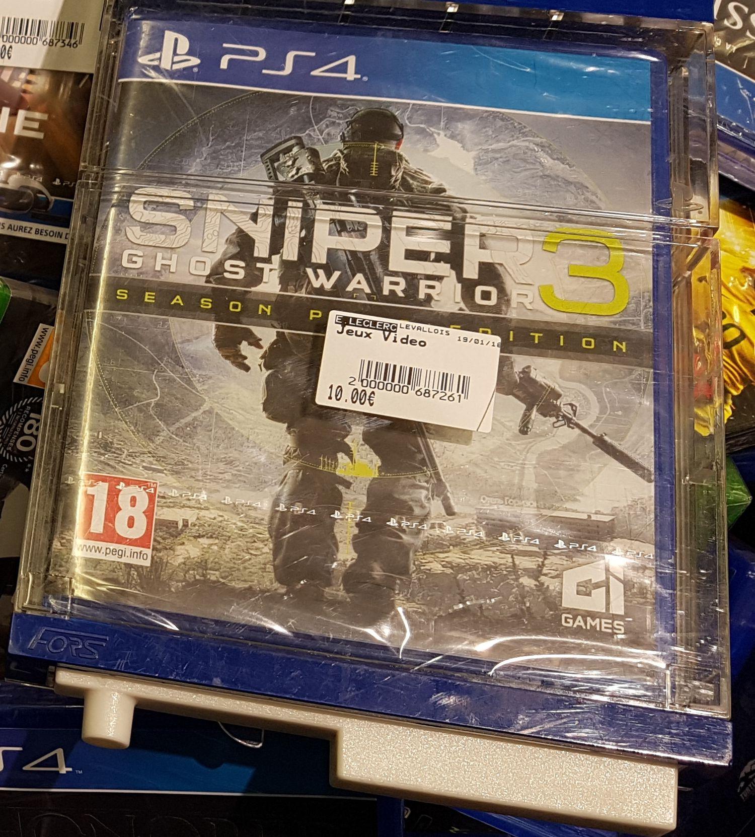 Sélection de jeux en promotion - Ex: Sniper Ghost Warrior 3 Season Pass Edition sur PS4 - Levallois-Perret (92)