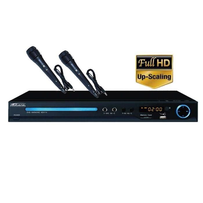 Lecteur DVD Takara KDV114BV2 avec fonctions Karaoké (2 micros) - Full HD