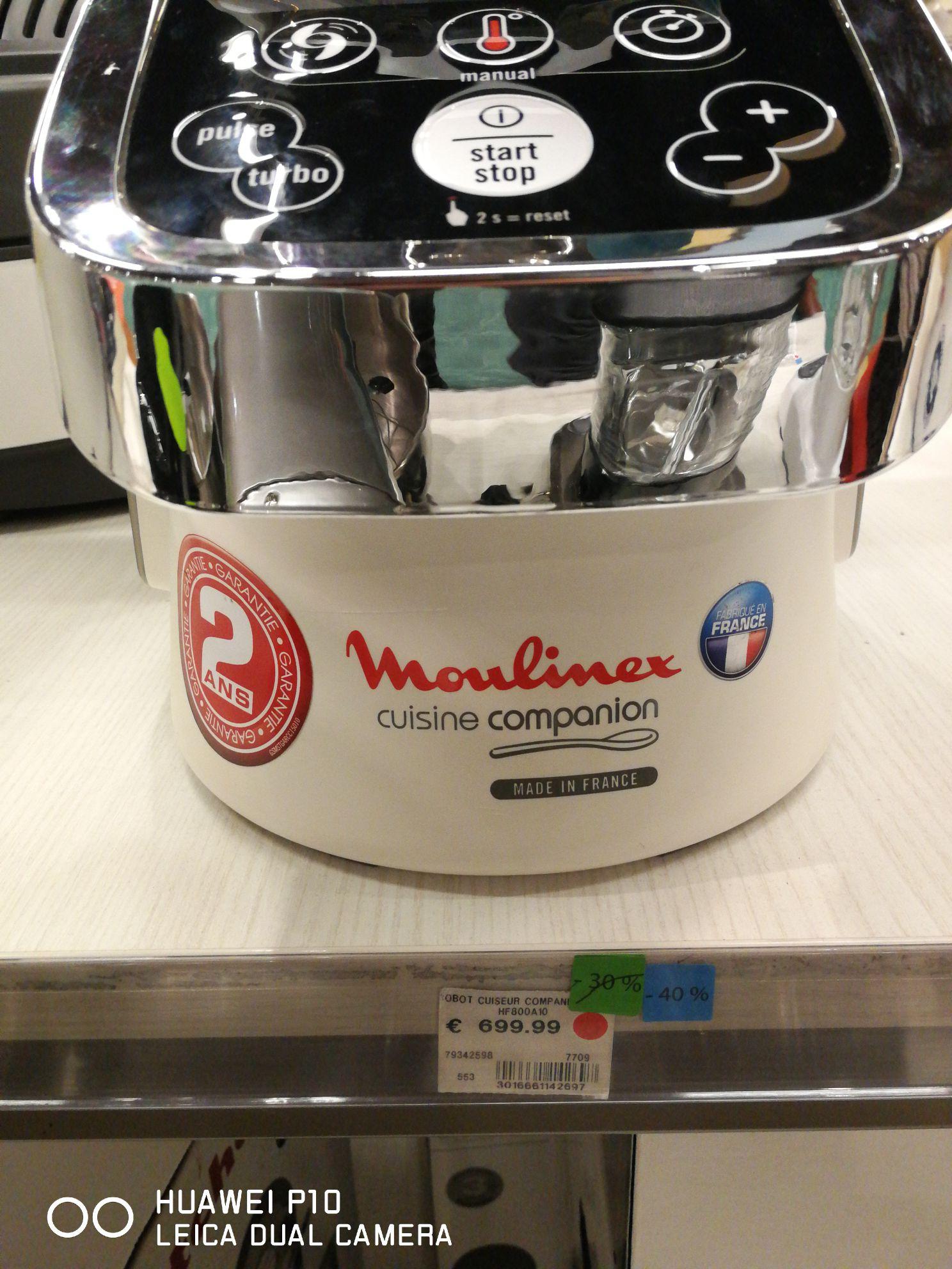Robot cuiseur Moulinex Companion HF800A10 - BHV Lyon Part-Dieu (69)