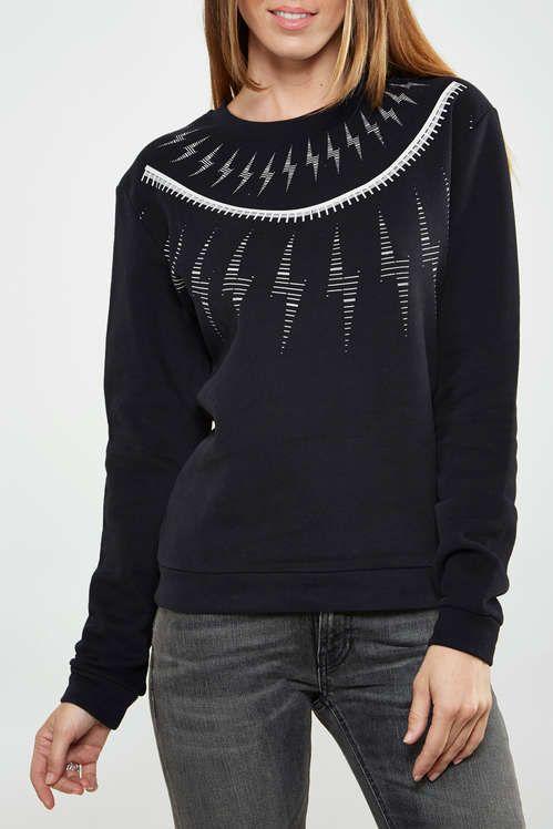 Jusqu'à -70% sur une sélection d'articles hommes et femmes - Ex: Sweat Shirt Asap Paris Fred W Noir Femme