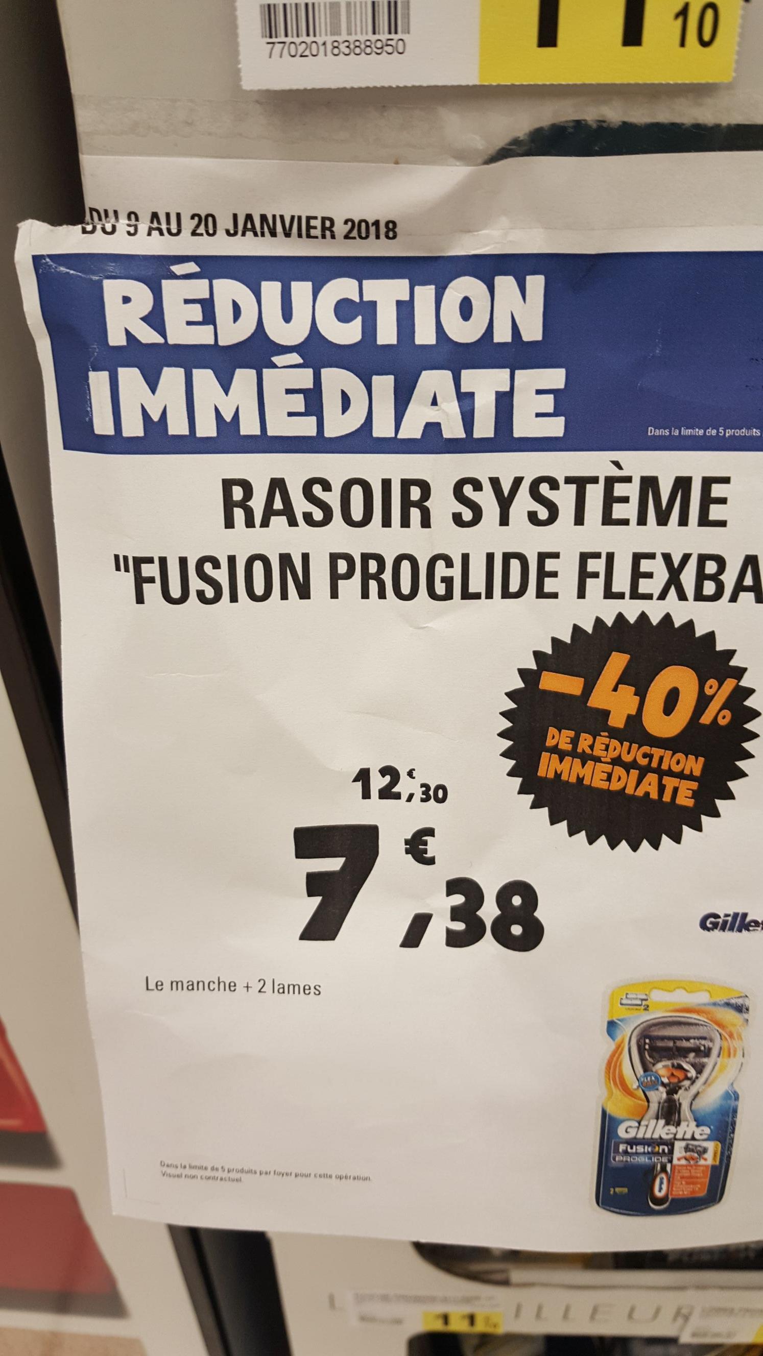 Rasoir Gilette Fusion Flexball - Bonneuil-sur-Marne (94)