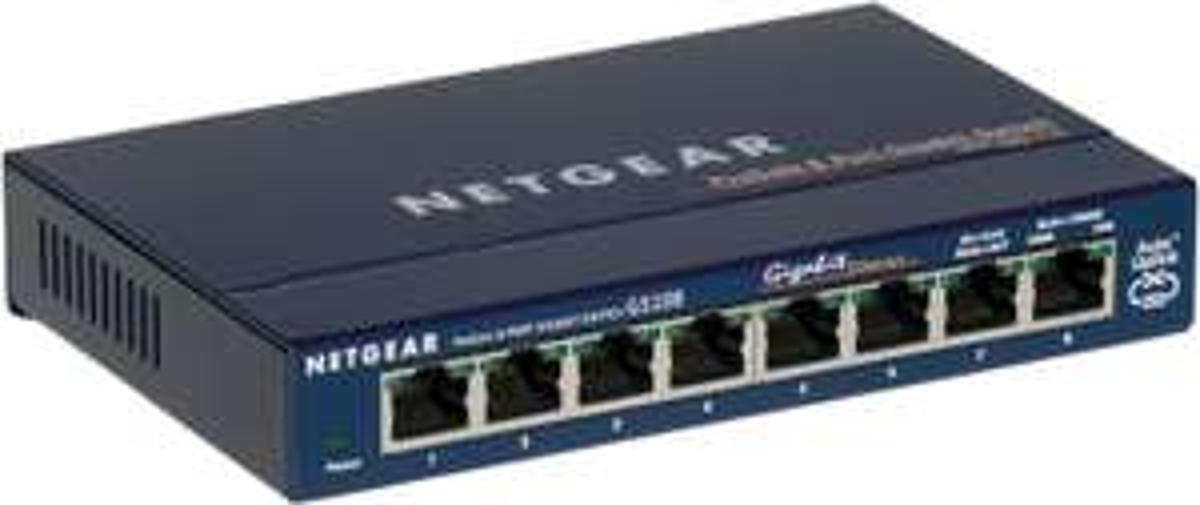 Switch 8 ports Netgear GS108GE Gigabit boitier metal Prosafe