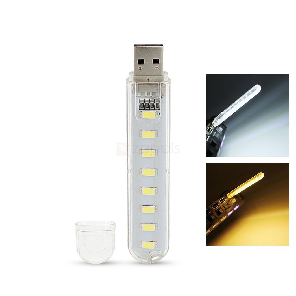 Veilleuse USB 8 LED - Couleur aléatoire (Livraison incluse)