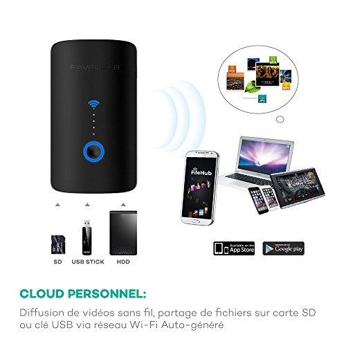Lecteur de carte mémoires hotspot Wi-Fi - 6000mAh (vendeur tiers)
