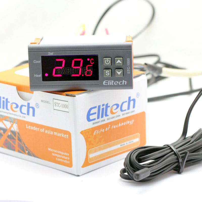 Contrôleur de température Elitech Digital STC-1000 Thermostat pour aquarium