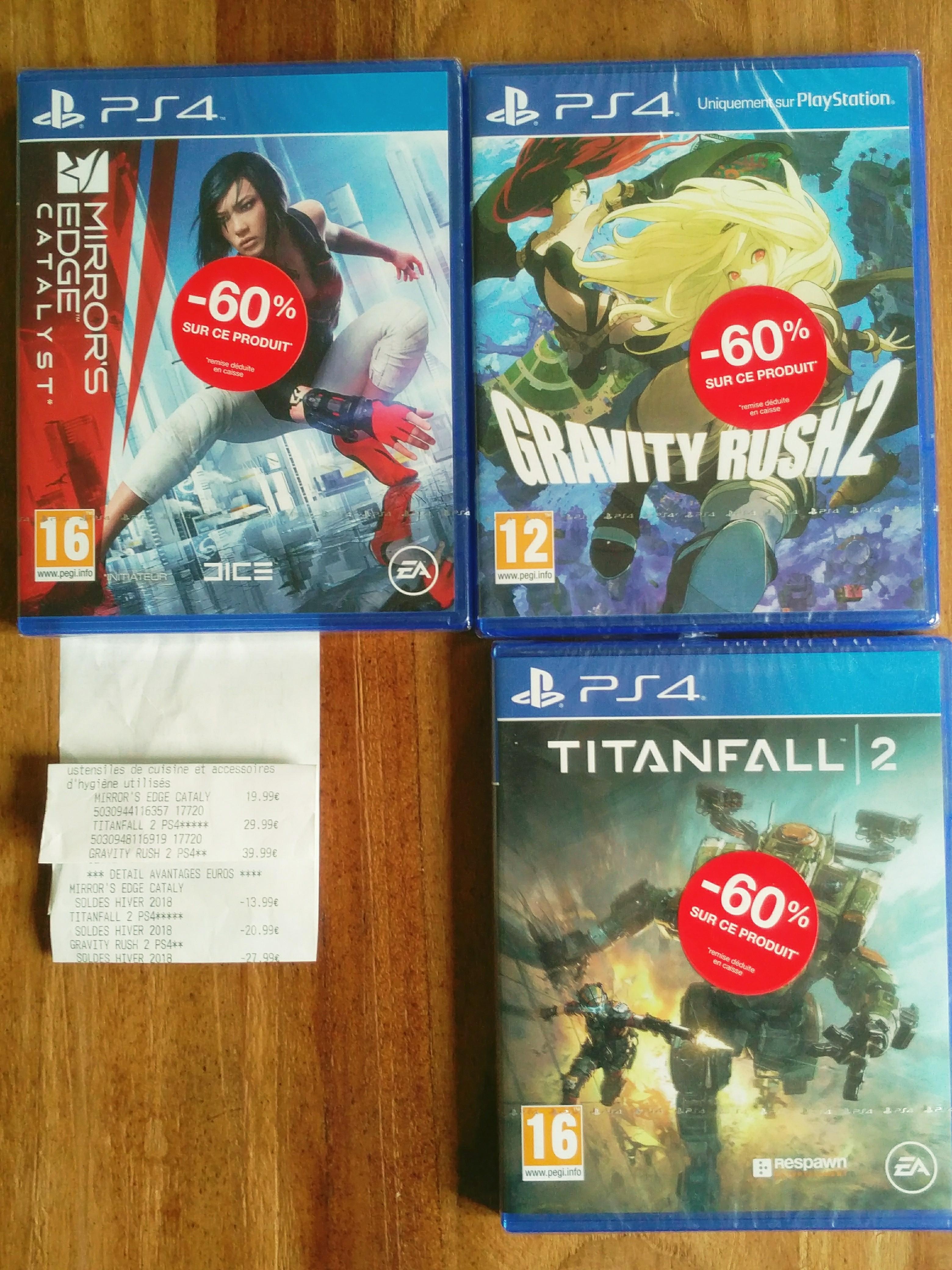 -60% sur une sélection de jeux PS4 - Ex : Mirror's Edge Catalyst à 6€ - Italie 2 Paris (75)