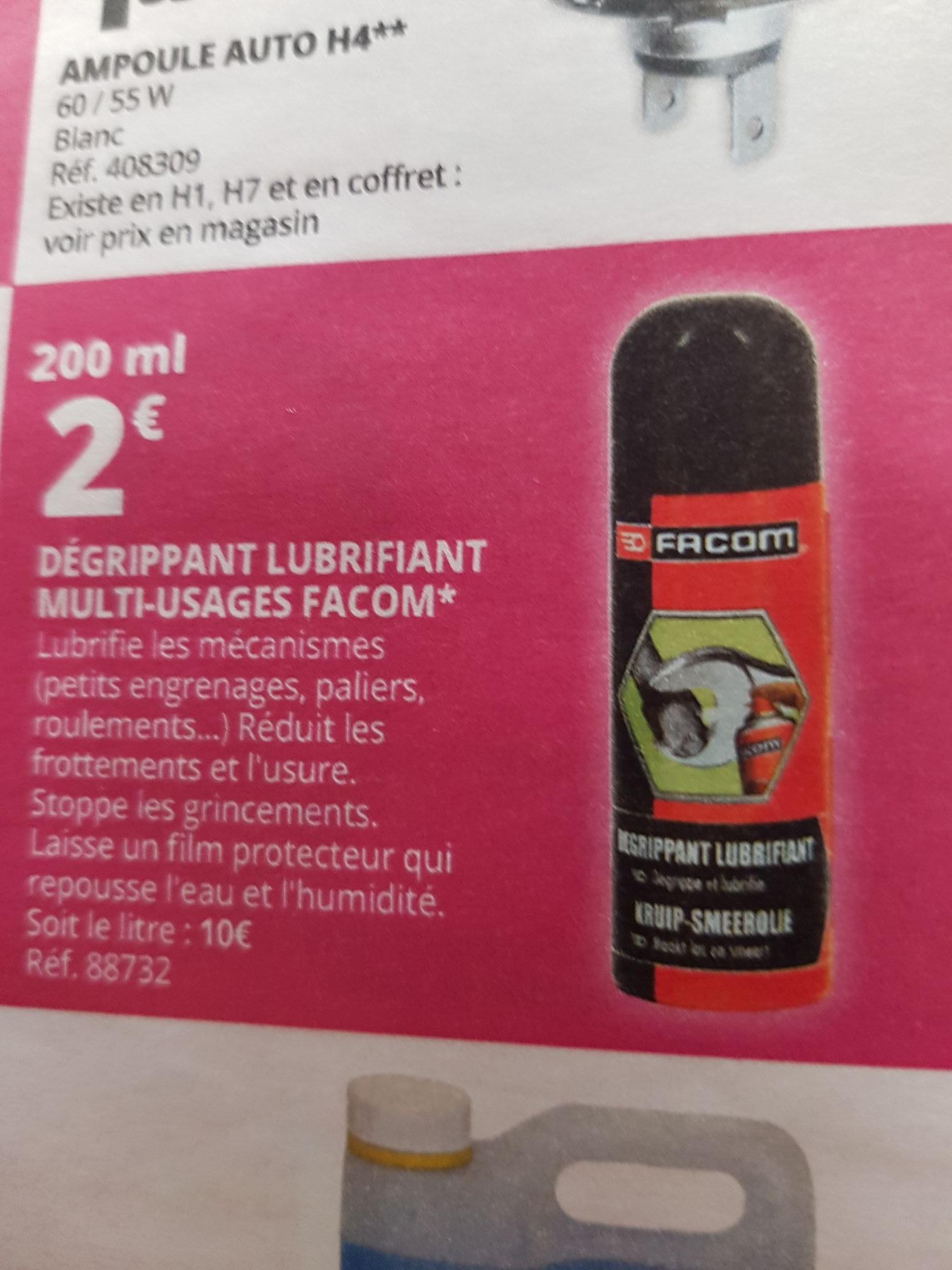 Dégrippant Lubrifiant Facom 200 ml