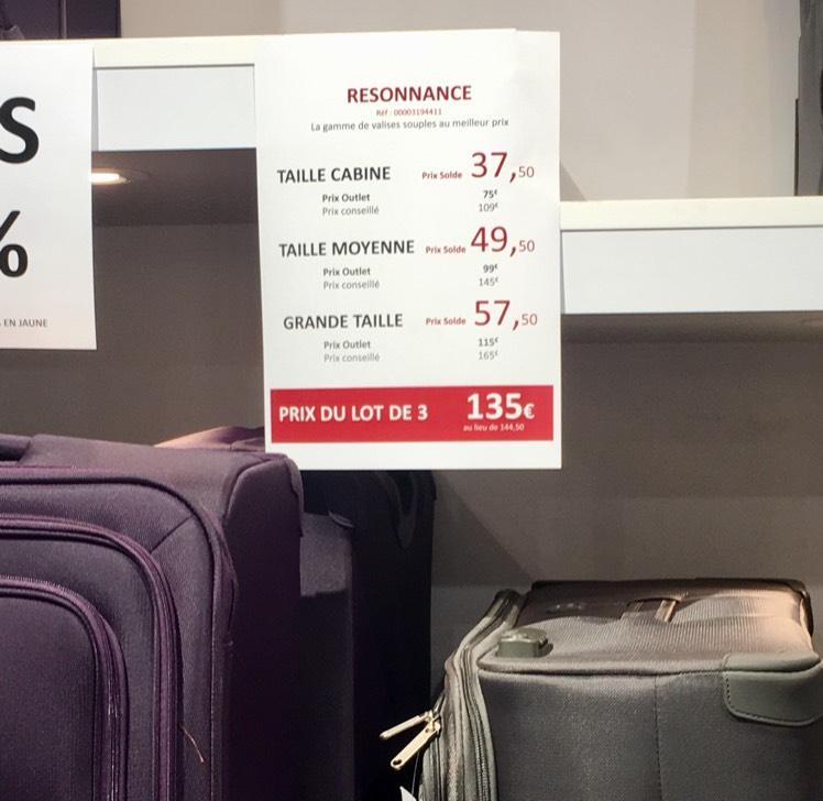Sélection de valises Delsey en promotion - Ex : Valise taille cabine - Delsey Flins sur Seine (78)